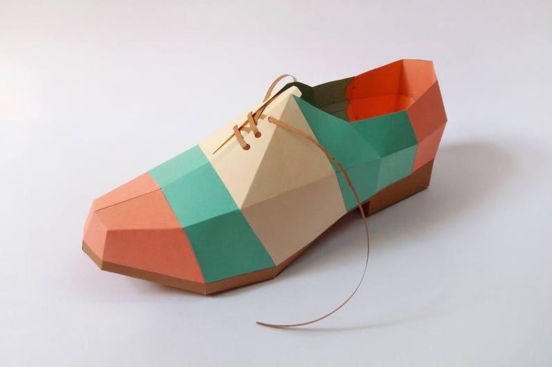PapercraftsChaussure De D'origamiImpression Diy Et Pli Chaussure3dAccessoiresDécorsKits PapierPointuImprimable 9WID2EH