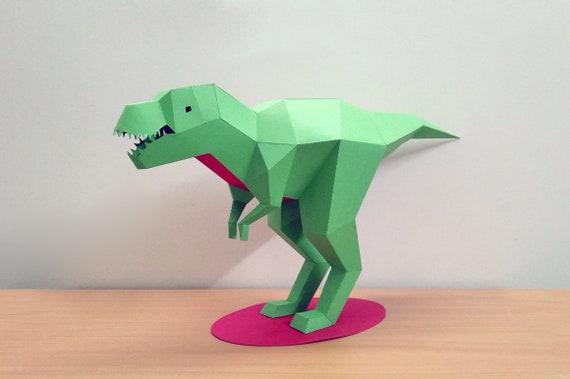 Diy Papercraft Tyrannosaurus Etsy