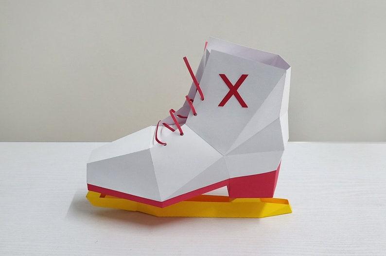 ImprimableModèle À ChaussureHockey Sur De DiyPatinoire Patin Bricolage 3dLes Chaussure Chaussures GlacePapercraft N8nOwkX0P