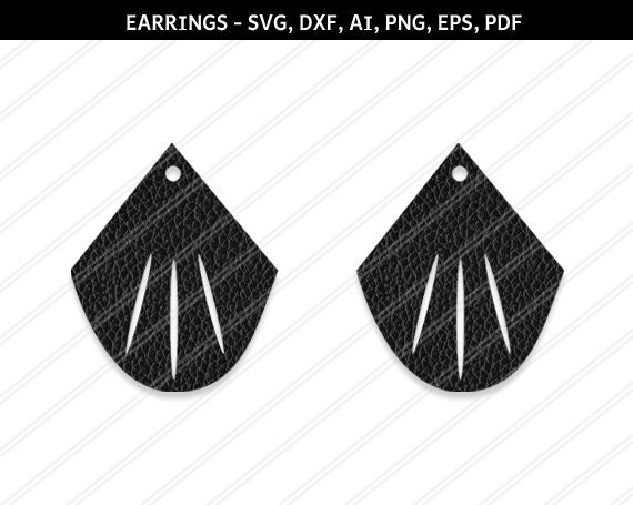 9ef1d9a5d Earrings svg Teardrop earrings Jewelry svg leather jewelry | Etsy