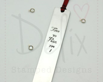 Personalised hand stamped bookmark, reading, story, bedtime