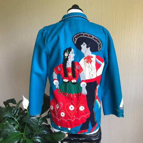 1940s Mexican Souvenir Jacket. 1940s Embellished W