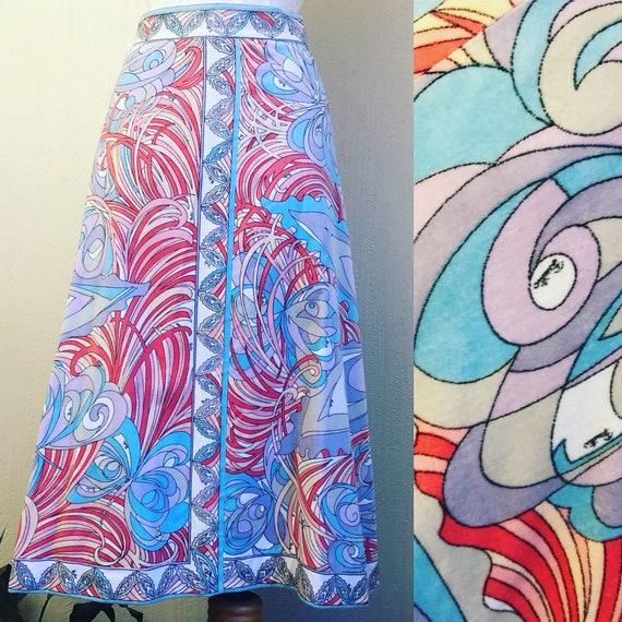 1960s Emilio Pucci Cotton Velvet Midi Skirt. 60s B