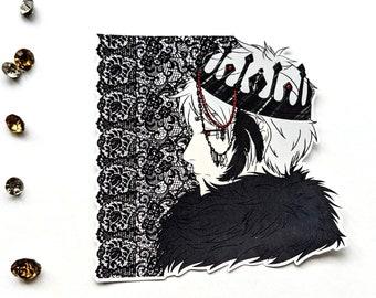Aph Hetalia Hws Prussia sticker - dark prince anime fanart gift