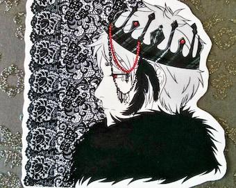 HALLOWEEN SALE - Aph Hetalia Prussia sticker - dark prince anime fanart