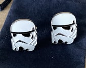 Star Wars Stormtrooper Head Metal Cuff Links