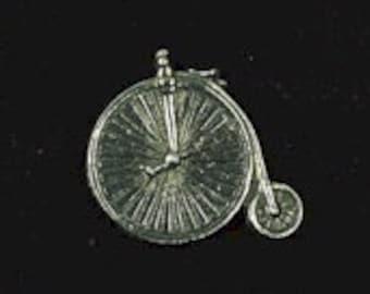 Penny Farthing Pewter Pin Badge