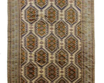 At00234 Antique Persian Torkaman Rug