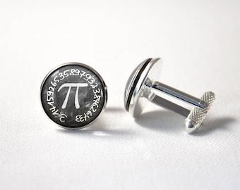 ON SALE Pie Teacher Math Gift Pi Cufflinks