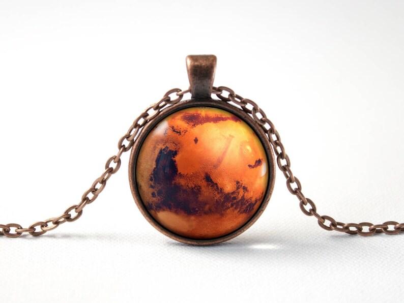 fc4ccbe190ba Marte espacio collar planeta Marte Marte joyería Marte Marte