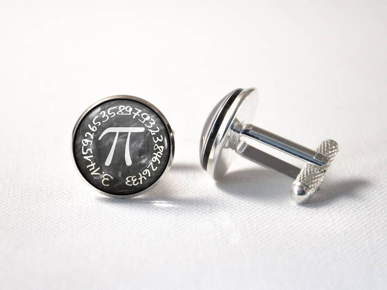 Pi number Cuff links for men Teacher gift Nerd cufflinks Science gifts Math jewelry Geek jewelry Brain jewelry Maths cuff links Number Pi