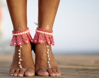 2dfdf6a4a4ab Spring flowers barefoot sandal beach wedding barefoot