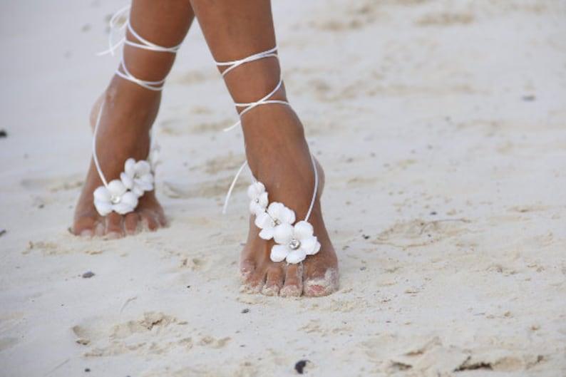 Barefoot sandal&Spring flowers  beach wedding barefoot image 0