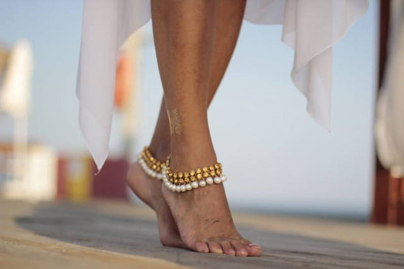 bangle,cuff wedding anklet,barefoot sandal,boho sandal Amber/'s beauty rhinestone with fresh water pearl beach wedding barefoot sandals