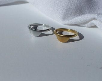 Half circle moon ring  ,  HELENA  Lottejewelry