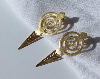 Minimal dangle unique silver earrings , ARO Lottejewelry