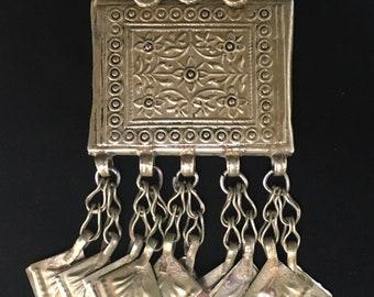 Boho jewelry,Nomadic Pendant,Hundmade Pendant,Gift For Her Tribal Kuchi Pendant,Tribal Necklace,Statement Necklace