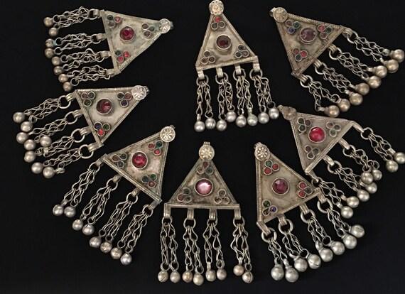 Boho jewelry,Nomadic Pendant,Hundmade Pendant,Gift For Her Kuchi Pendant,Tribal Necklace,Statement Necklace