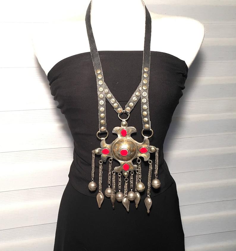 Vintage Necklace,Turkmen  Jewelry,Turkmen Necklace,Afghan kochi Tribe,collectible,statement necklace,Billy Dance Necklace,Nomads Jewellery,