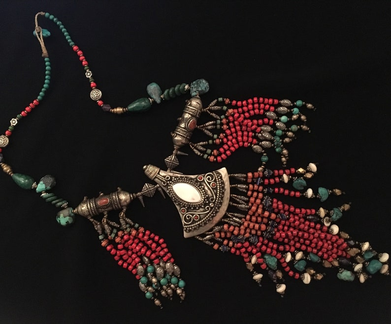Handcrafted Necklace Beaded Unique-Costume Jewellery Necklace Tribal Necklace