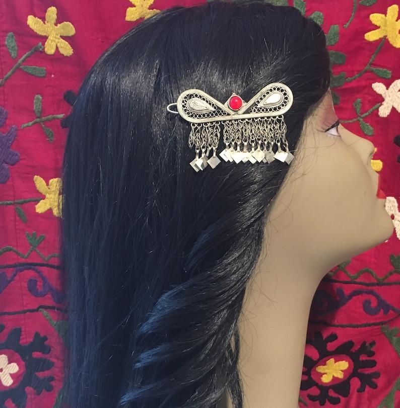 Kochi Hair Clip-Antique Clip-Hair Pine-Hire Jewelry-Nomadi Jewelry bohemian Accessory-Kuchi Head Piece-Billy Dance Head Clip..