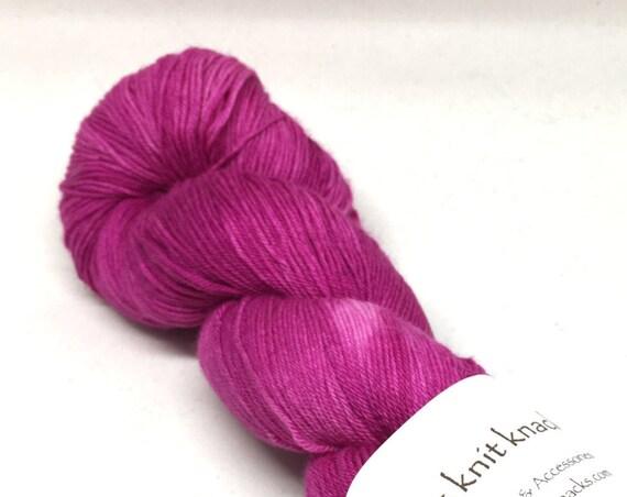 Hand Dyed Superwash Merino/Nylon blend Fingering Yarn_Bumble Berry