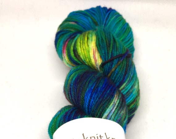Hand Dyed Superwash Merino/Nylon blend DK Yarn_Tide Pool