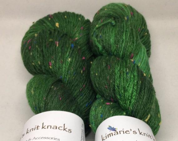 Hand Dyed Superwash Merino Tweed DK Yarn_Tannenbaum