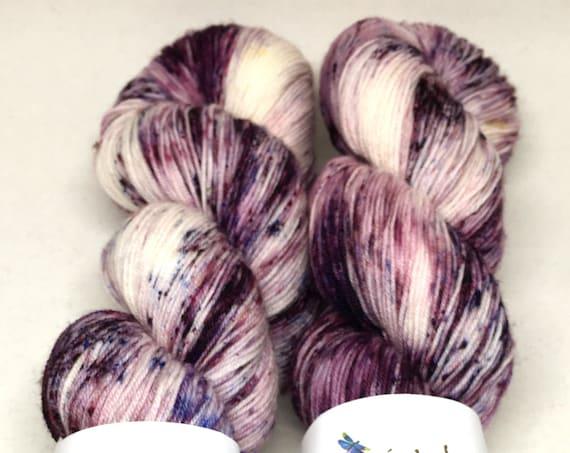 Hand Dyed Superwash Merino Blend Sock Yarn_Plum Jam