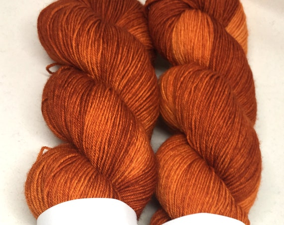 Hand Dyed Superwash Merino Blend Sock Yarn_Carrots! 2.0