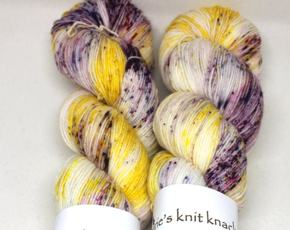 Hand Dyed Superwash Merino Blend Sock Yarn_I've Always Preferred Wildflowers