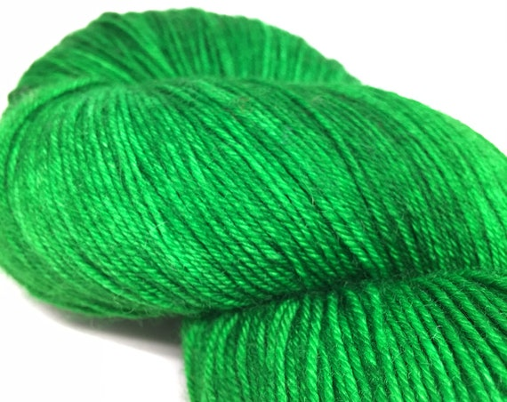 Hand Dyed Superwash Merino Blend Sock Yarn_Green Gables