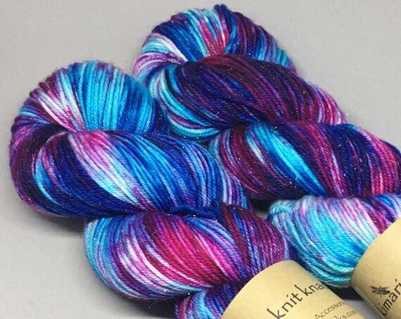 Hand Dyed Sparkle DK Weight Yarn 100 gram_Unicorn Fields