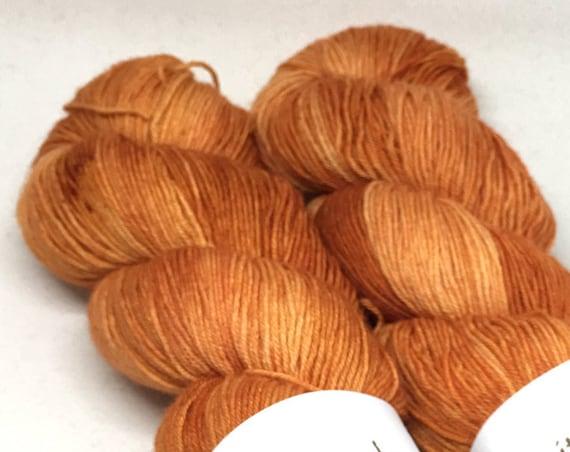 Hand Dyed Superwash Merino Blend Sock Yarn_Carrots!