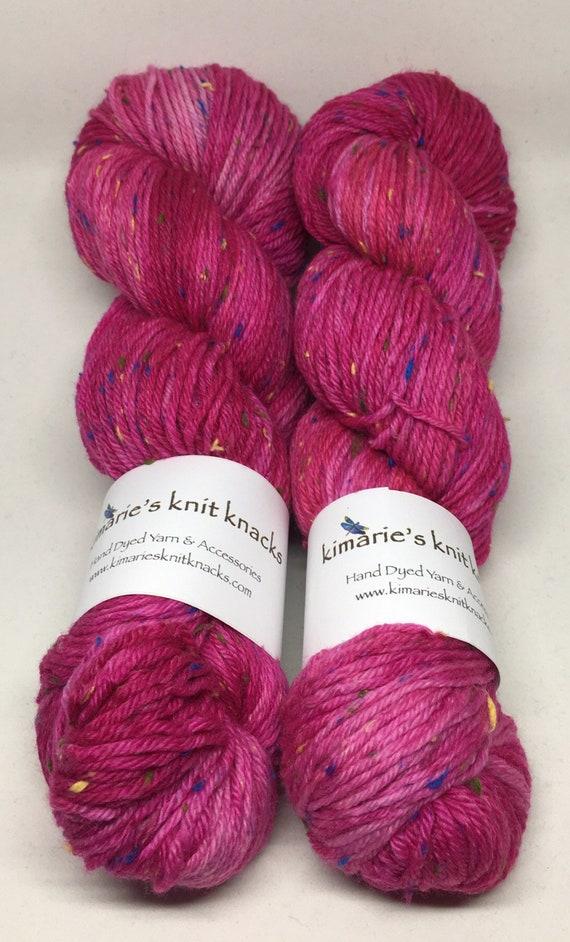 Hand Dyed Superwash Merino Tweed DK Yarn_Elizabeth