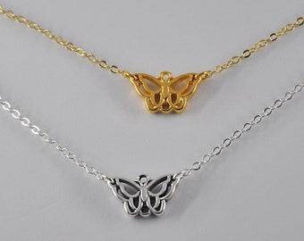 Acrylique Papillon Monarque Chaîne Collier Sautoir Pendentif Collier Bijoux Pour Femme Charms