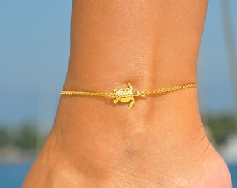 Nature Fish Sea Life Ocean Summer Surfer Jewelry Starfish Ankle Bracelet 925 Sterling Silver Choice Length Beach /& Nautical Anklet