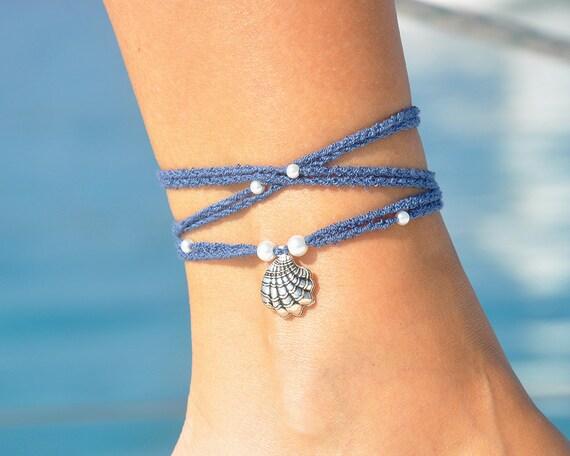 Seashell Boho Anklet For Women Wrap Anklet Foot Bracelet Etsy