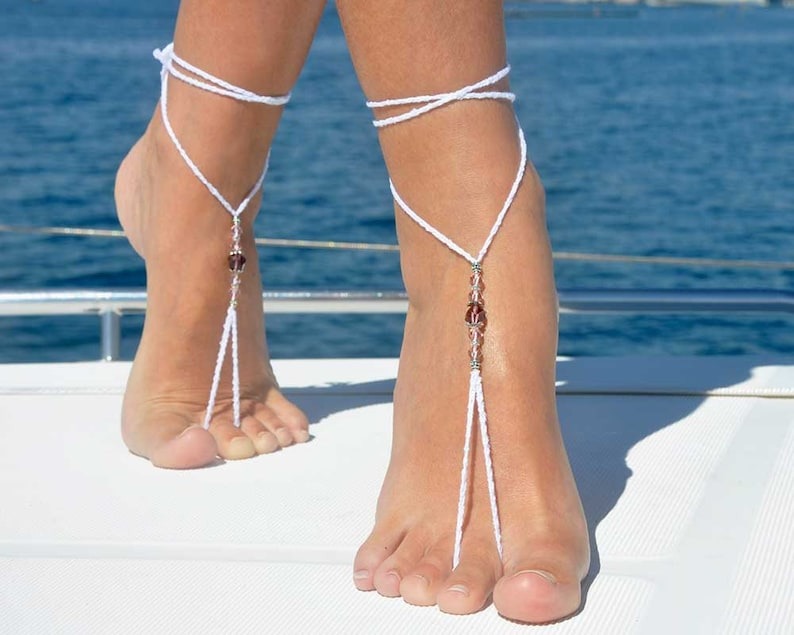 Boho Handmade Bead Shell Anklet Ankle Barefoot Sandal Beach Foot Jewelry Gifts