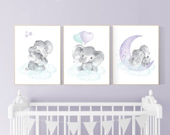 Mint And Lilac Decor Etsy