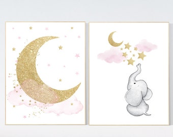 Pink Gold Nursery Etsy