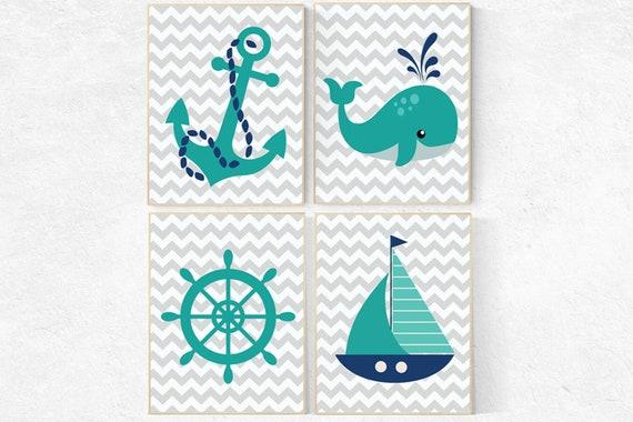 Nursery decor boy nautical, nautical decor nursery, nursery wall art nautical, navy nursery, navy and teal, navy teal nursery, boys room