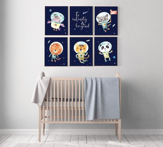 Space nursery prints, to infinity and beyond, nursery decor boy, outer space nursery, space nursery art, Space themed nursery, animal prints