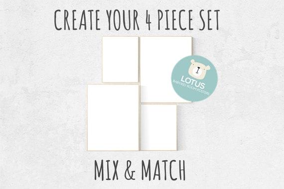 Choose Any 4 prints, Mix and match! Custom nursery decor, Custom nursery art, set of 4 prints, nursery decor girl, nursery decor boy, prints