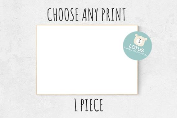 Choose Any print, 1 piece, Custom nursery decor, Custom nursery art, choose any print, nursery decor girl, nursery decor boy, nursery prints