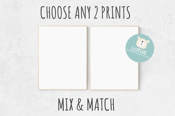 Choose Any 2 prints, Mix and match! Custom nursery decor, Custom nursery art, set of 2 prints, nursery decor girl, nursery decor boy, prints