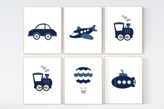 Transportation nursery, plane train truck boat car, kids decor, Nursery decor boy, transportation decor, boys room, kid room travel theme