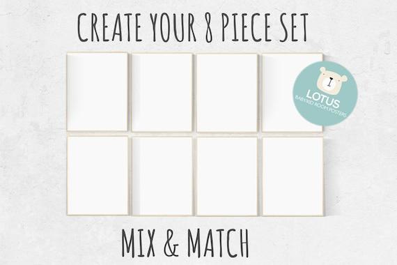 Choose Any 8 prints, Mix and match! Custom nursery decor, Custom nursery art, set of 8 prints, nursery decor girl, nursery decor boy, prints