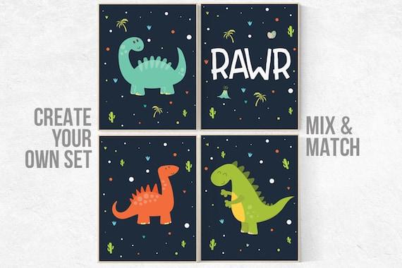 Nursery decor boy dinosaur, dinosaur nursery decor, boys room decor dinosaur, kids room decor dinosaur, dinosaur room decor, dinosaur prints