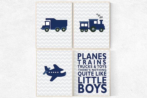 Boys room decor transportation, boys room decor cars, boys room decor train, nursery decor boy, navy nursery, planes trains and automobiles